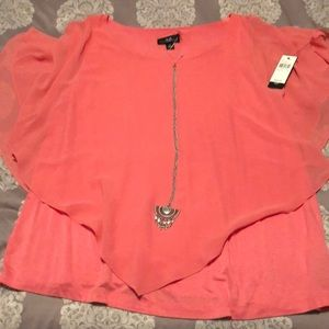 AGB blouse NWT rose colored